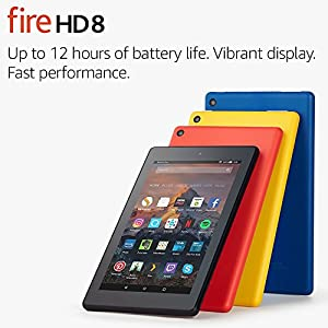 """Fire HD 8 Tablet with Alexa, 8"""" HD Display, 32 GB, Black - with Special Offers (Previous Generation - 7th)"""