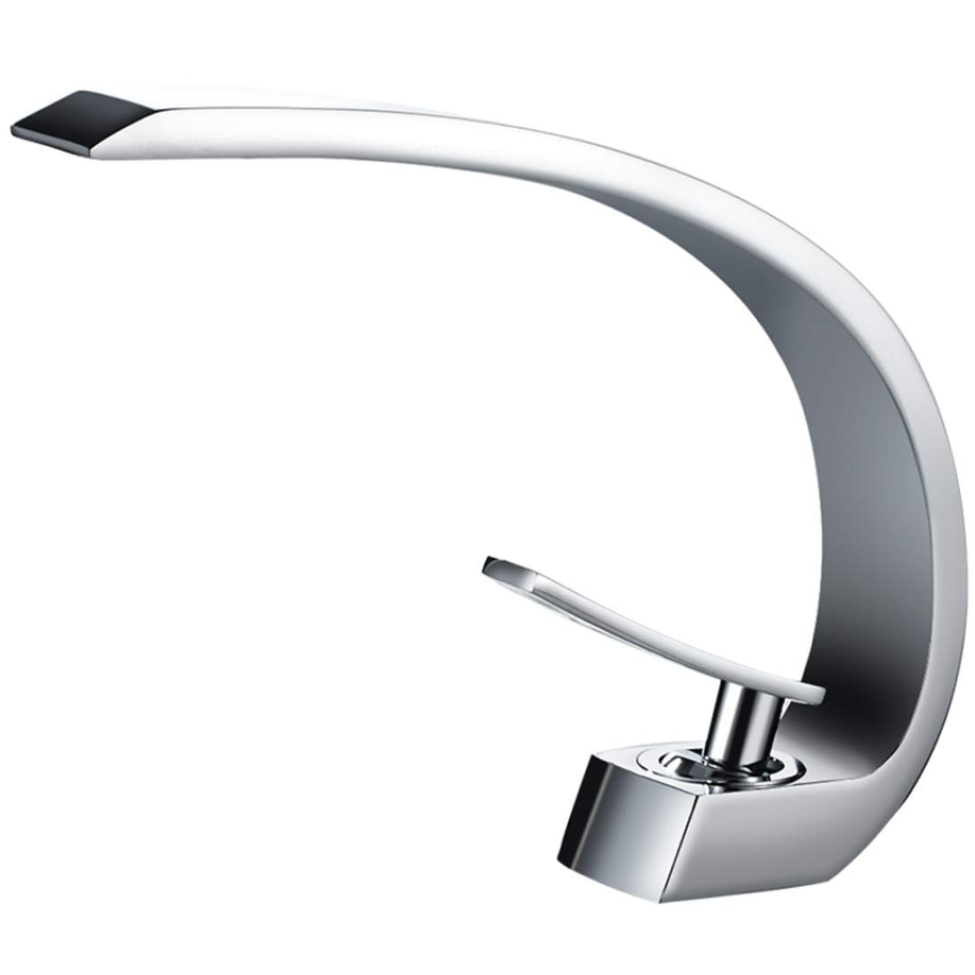 Sink Faucet Hot and Cold Water Faucet Basin Sink Water Crane Brass Deck Mounted Tap