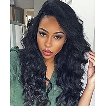 cfc057973f3 Amazon.com : SHANELL 360 Lace Frontal Wigs Pre Plucked 180% Density ...