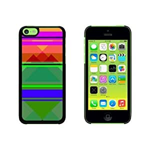 Geometric Squares Teal Magenta Orange Snap On Hard Protective For Iphone 5/5S Phone Case Cover - Black