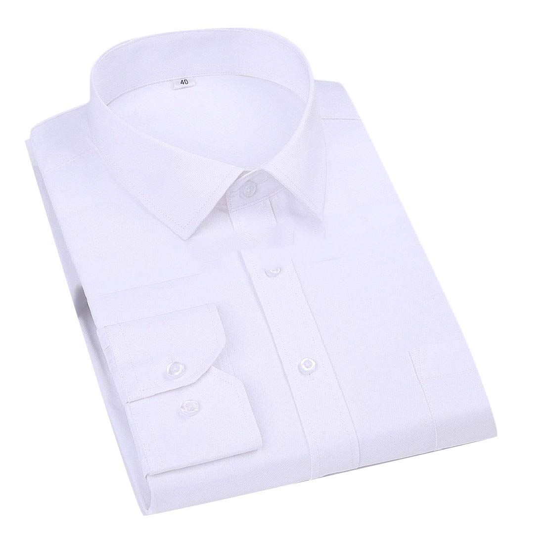 RDHOPE-Men Career Long Sleeve Solid Color Button Down Prodenia Shirts