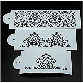 Amazon Com Flower Cake Decorating Tools Stencil Carved 3
