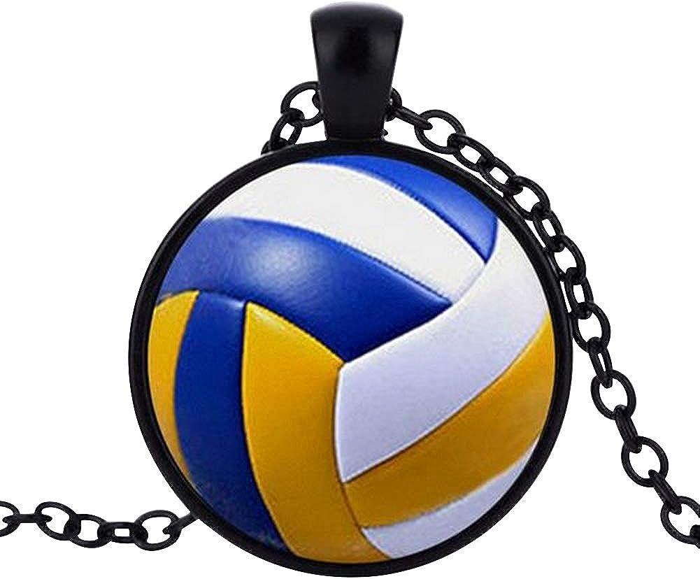 Générique Collar Colgante Estampado Balón Voleibol Ball, Cadena ...