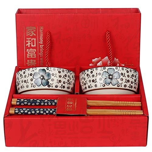 Household Ceramic Bowl (Ceramic) Chopsticks (Mao Bamboo) Gifts Beautifully packaged Bowl diameter 10.8 cm Height 5.2 cm Chopsticks length 22.5 cm Red