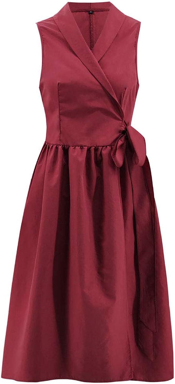 Frauen-A-Linie Kleid - Ärmel Solid Color Klassischer Knierock