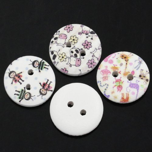 50 Wonderfully Colorful Buttons with Exclusive Shizaru Designs Gift Bag