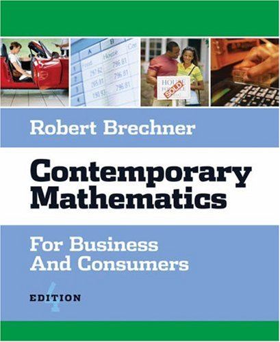 Contemporary Mathematics for Business and Consumers (with CD-ROM)