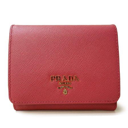 プラダ レザー 財布(ホック式小銭入れ付き) 1M0176の商品画像