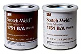3M Scotch-Weld 20101 Epoxy Adhesive 1751 Part B/A, Gray, 1 pint Kit