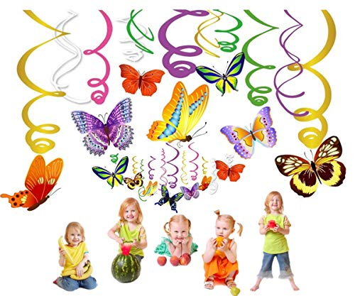 Spring Birthday Themes (Butterfly Decorations Spring Butterfly Decoration,Butterfly Spring Hanging Swirl Decorations for Home,Classroom, Holiday ,Graduation,Girl,Boys Baby Shower,Birthday Party Carnival, Mexican Fiesta ,Summer Decoration Supplies)