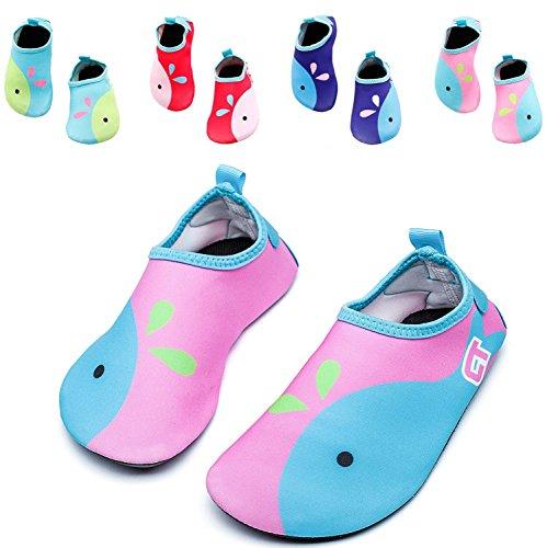 Kids Swim Water Shoes Girls Boys Lightweight Barefoot skin S