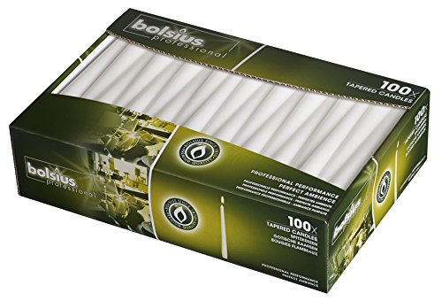 Thin Taper - Taper 10inch Candles Color: White 100 count
