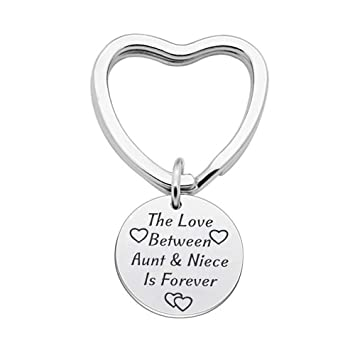 Amazon Aunt Niece Gifts Keychain The Love Between And Is Forever Pendant Keyring Birthday Christmas Office Products