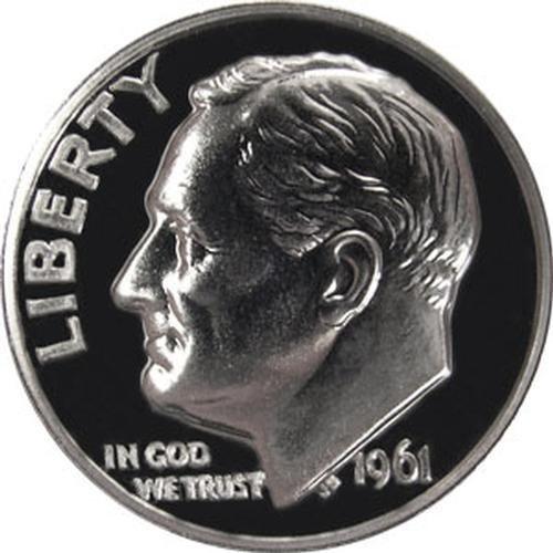 1961 P SILVER Gem Proof Roosevelt Dime US Coin