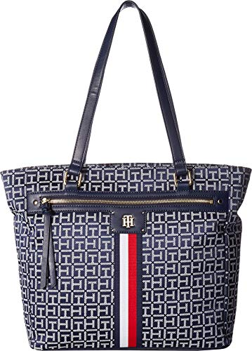Tommy Hilfiger Women's Palmer Tote Navy/White One Size ()