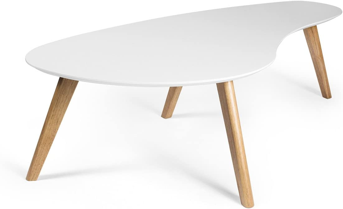 - Amazon.com: Kidney Shaped Coffee Table, White: Kitchen & Dining