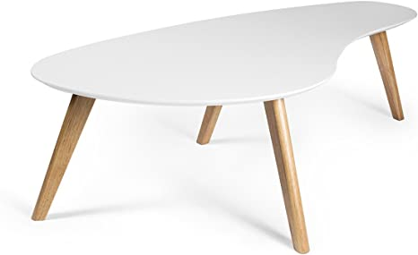 Amazon Com Kidney Shaped Coffee Table White Kitchen Dining