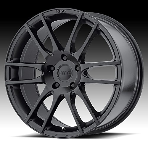 KMC KM696 PIVOT Satin Black Wheel Chromium (hexavalent compounds) (20 x 8.5 inches /5 x 74 mm, 35 mm Offset)
