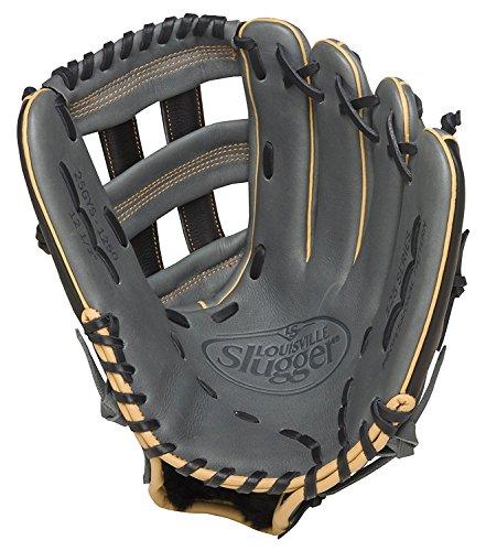 Baseball Louisville Slugger FG25GY5 125 Series Gray Fielding Glove, 12.5-Inch, Right Hand Throw by Baseball