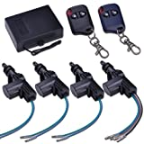 Yescom 4 Door Power Central Lock Kit w/2 Keyless Entry Car Remote Control Conversion