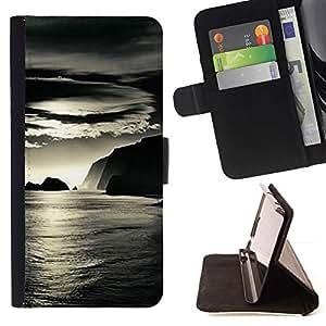 Momo Phone Case / Flip Funda de Cuero Case Cover - L'eau de mer Reflet Ocean Summer - HTC One M7