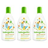 Babyganics Baby Bubble Bath, Orange Blossom, 12oz Bottle, (Pack of 3)