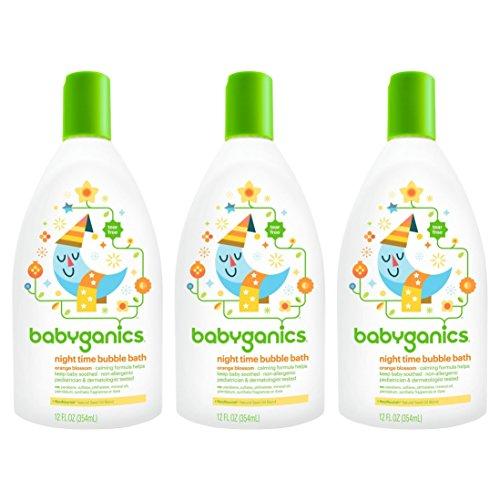 Babyganics Baby Bubble Bath, Orange Blossom, 12oz Bottle, (Pack of 3) by Babyganics