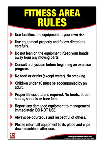 Fitness Area Rules Poster/Chart: Gym Safety Rules Poster, Rules Chart, Weight Room Guidelines, Gym Rules, Guidelines for Gym Poster, Gym Etiquette Chart