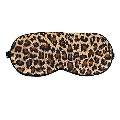 Fashion Leopard Print Sleeping Mask Super Smooth Silk Eyeshade Deep Rest Contoured Eye Mask Brown