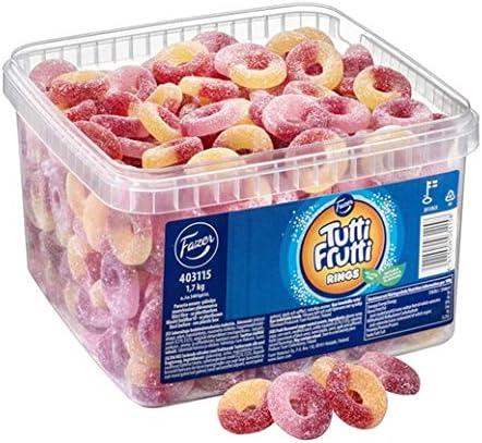 Fazer Tutti ファッツェル トゥッティ フルッティリング グミ 2 箱 x 1.7kgセット フィンランドのグミです [並行輸入品]