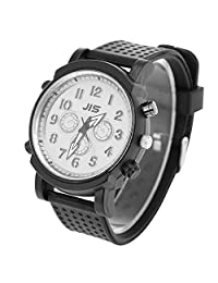 Sonew LED Light Quartz Watches Big Dial Silicone Band Wristwatch for Mens