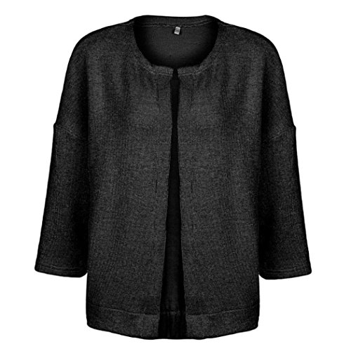 Women 3/4 Sleeve Knitted Cardigan Outwear Coat Sweater - 5
