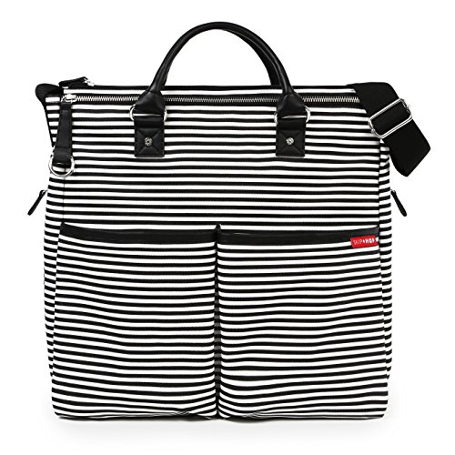 Amazon Skip Duo Hop - Skip Hop Duo Special Edition Carry All Travel Diaper Bag Tote with Multipockets, One Size, Black Stripe