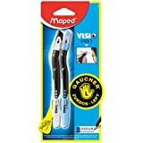 Maped Visio Left-Handed Ball-Point Pen, 2 Pack, Black and Blue (224327)