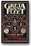 Greta Van Fleet Poster - Concert Promo 11 x 17 inches BlackSmoke Rising tour