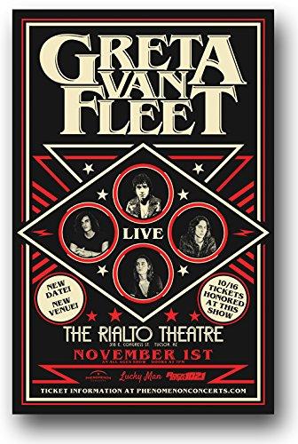 - Greta Van Fleet Poster - Concert Promo 11 x 17 inches BlackSmoke Rising Tour