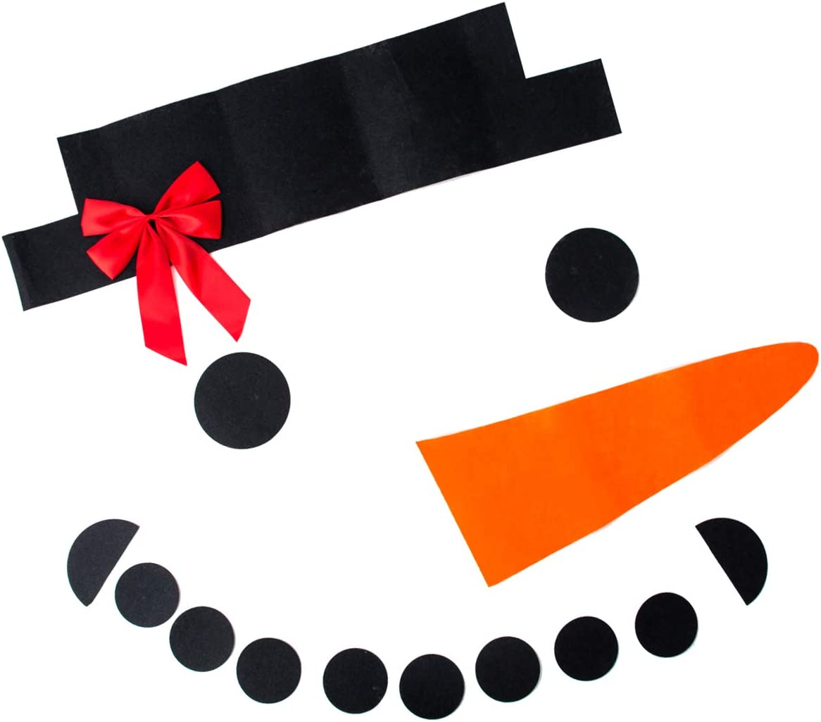 Christmas DIY Sticker Set for Garage Snowman Happy Face Garage Door Sticker Xmas Window Decor Bowknot Celebration Ornament