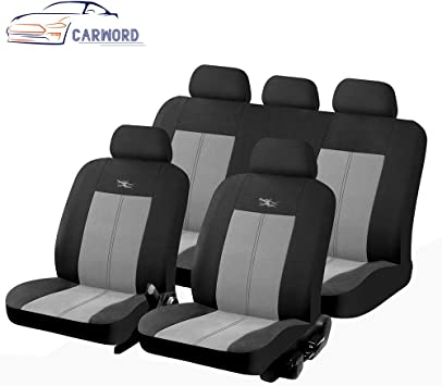 Schwarz Sitzbezüge für AUDI Q2 Autositzbezug VORNE