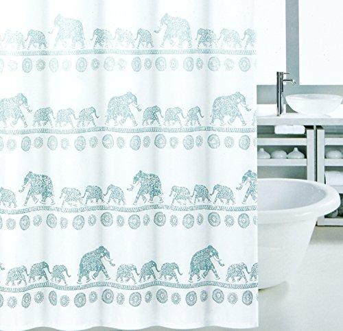 Elephant Mandala Shower Curtain Modern Vintage Oriental