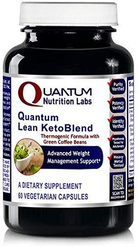 Quantum Ketoblend Lean Advantage Green Coffee Extract 60 VCaps (1 Bottle) by Quantum Nutrition Labs