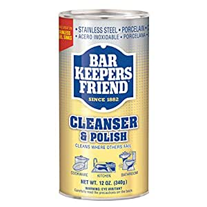 Bar Keepers Friend Cleanser and Polish, 12-Ounces