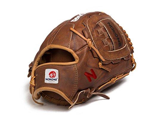 - Nokona AMG1200-W-CW 12-Inch Closed Web Walnut Leather Baseball Glove (Right-Handed Throw)