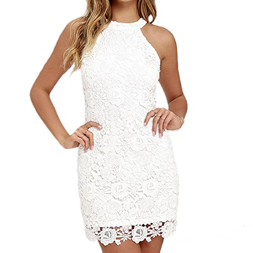 halter backless lace dress - 6
