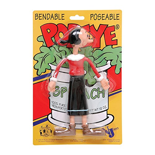 Popeye The Sailor Man, Olive Oyl Bendable Poseable Figure