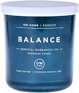 Richly Scented Balance | Sandalwood + Cedar Essential Candle in Votive Jar with Lid, 4 Oz.