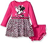 Disney Baby Girls' Minnie Mouse Tutu Dress and Diaper Cover Set, Beetroot Purple, 18M