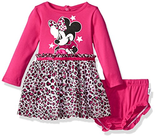Disney Baby Girls' Minnie Mouse Tutu Dress and Diaper Cover Set, Beetroot Purple, 3-6 Months