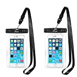AiRunTech Waterproof Case, 2Pack IPX8 Waterproof Phone Pouch, Dustproof Dry Bag for iPhone