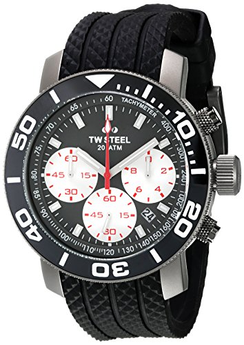TW Steel Grandeur Chronograph Titanium Grey Dial 48mm Black Rubber STW705 48mm Grandeur Watch
