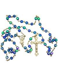 Acrylic Prayer Bead Rosary with Adoring Madonna Centerpiece, 20 Inch